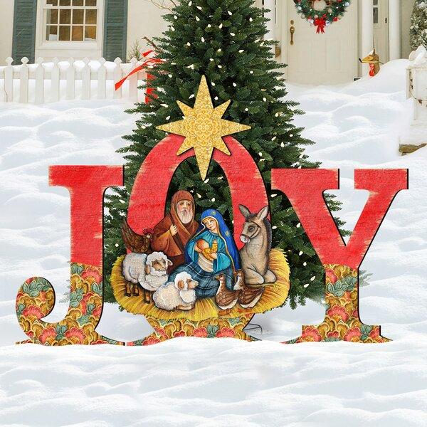 Joy Nativity Yard Lawn Art by The Holiday Aisle
