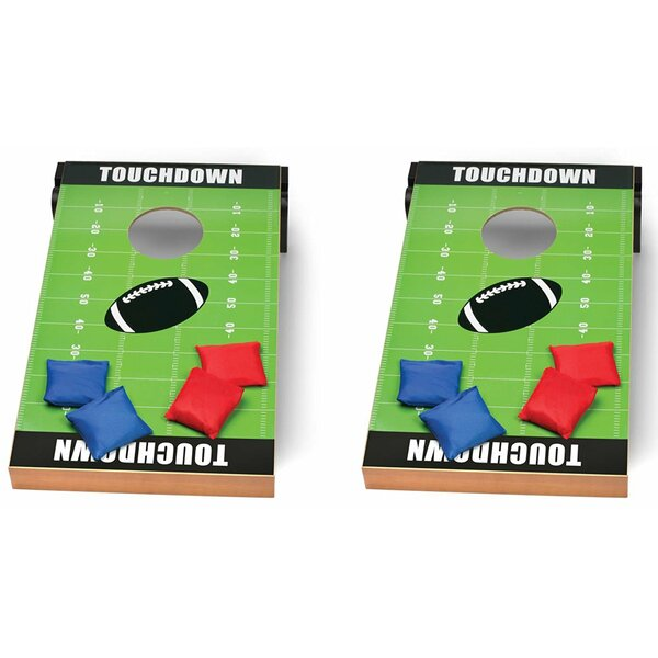 Football Cornhole Board Toss Game (Set of 2) by Me