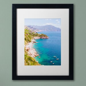 Amalfi Coast by Ariane Moshayedi Framed Photographic Print by Trademark Fine Art