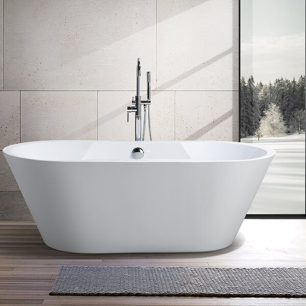 67 x 31.5 Freestanding Soaking Bathtub by Vanity Art