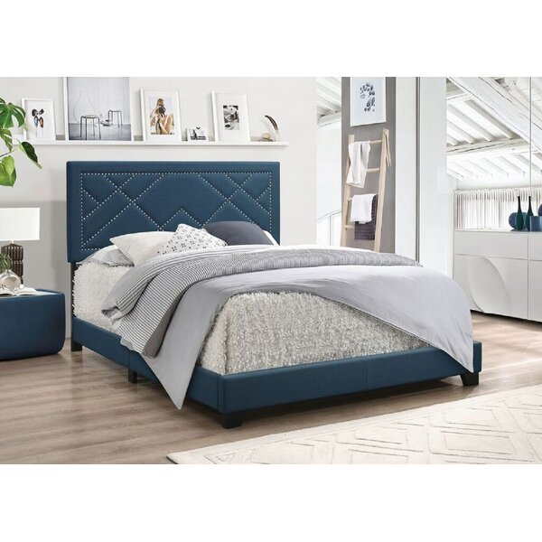 Rhianna Upholstered Standard Bed by Everly Quinn
