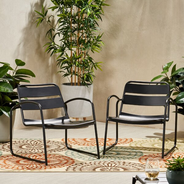 Johnstown Patio Dining Chair (Set of 2) by Ebern Designs Ebern Designs