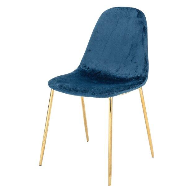 Deitz Upholstered Velvet Side Chair (Set of 2) by Mercer41