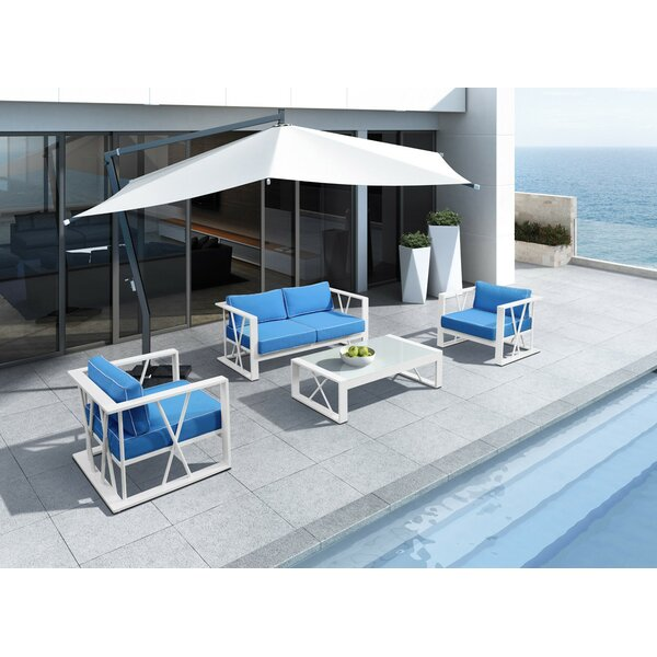 Coates Outdoor 4 Piece Sofa Seating Group by Rosecliff Heights