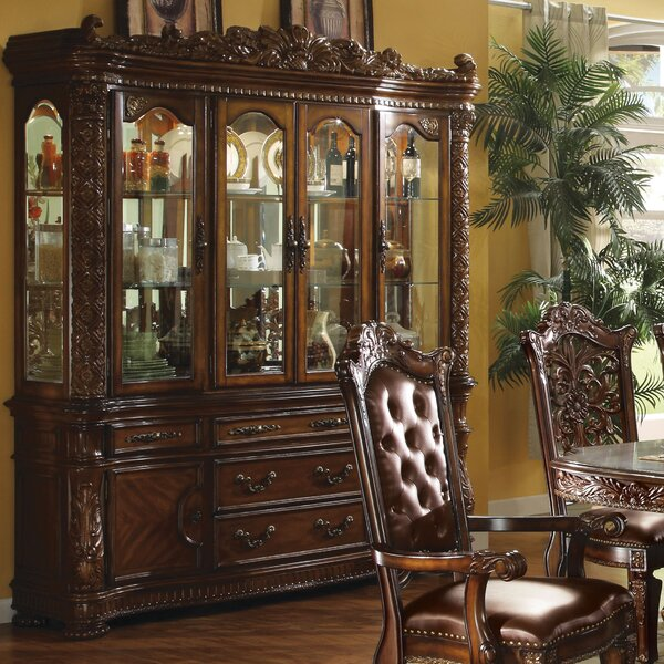 Welles Lighted China Cabinet by Astoria Grand