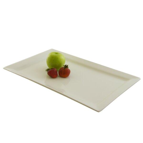 Wrightsville White Rectangular Platter by Red Barrel Studio