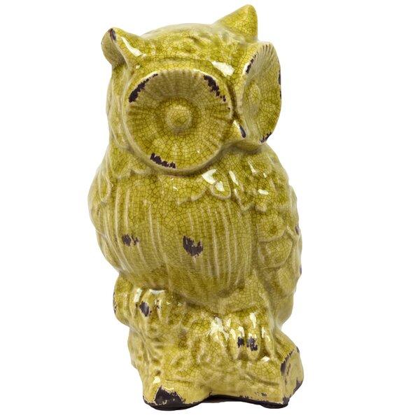 Ceramic Owl Antique White by Urban Trends