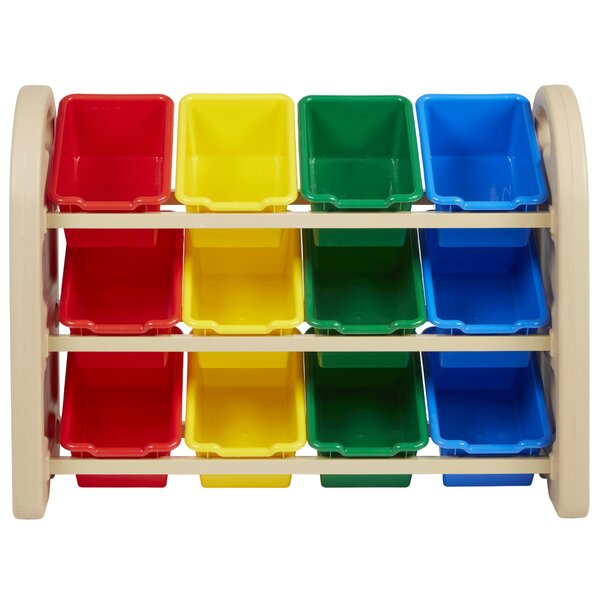 12 Compartment Cubby With Bins By Ecr4kids.