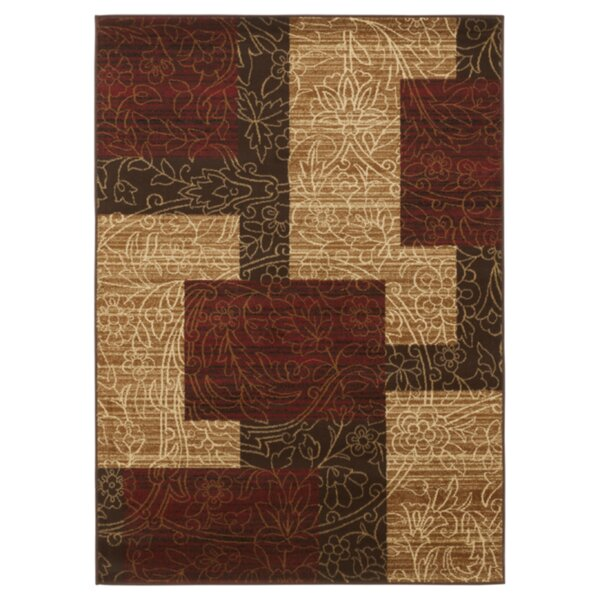 Vintage Casual Red / Gold Geometric Area Rug by Signature Design by Ashley