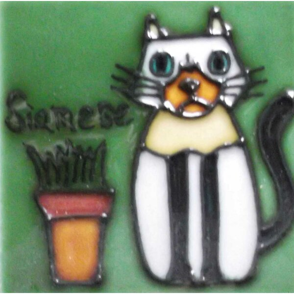 Cat Tile Magnet by Continental Art Center