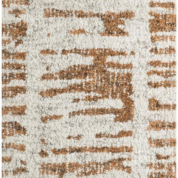 Lipson Hand-Tufted Beige/Brown Area Rug by Brayden Studio