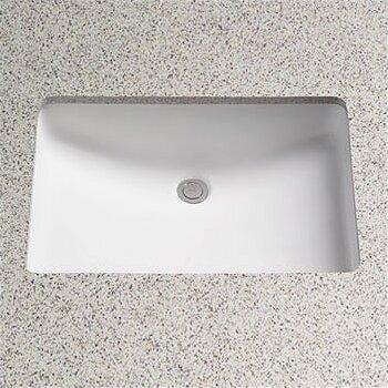 Augusta Decorative Ceramic Rectangular Undermount Bathroom Sink with Overflow by Toto