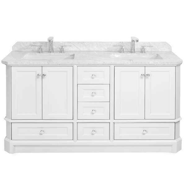 Ellicott 60 Double Bathroom Vanity Set by Charlton Home