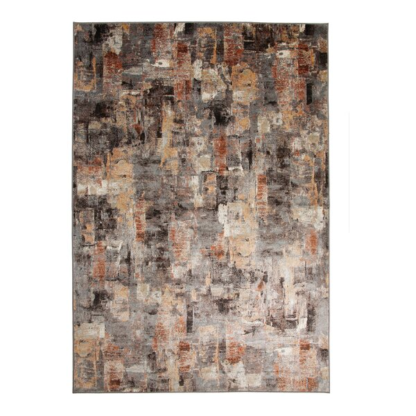 Lynnae Charcoal/Ivory Area Rug by 17 Stories