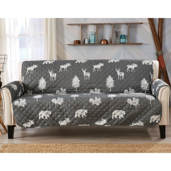 T-cushion Sofa Slipcover by Charlton Home