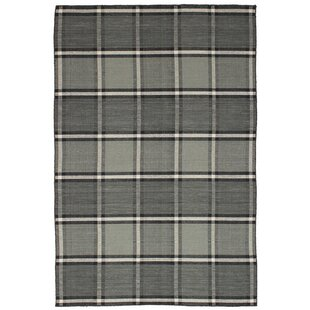 One-of-a-Kind Wickman Handwoven Flatweave 5' x 7'6 Wool Gray Area Rug by Gracie Oaks