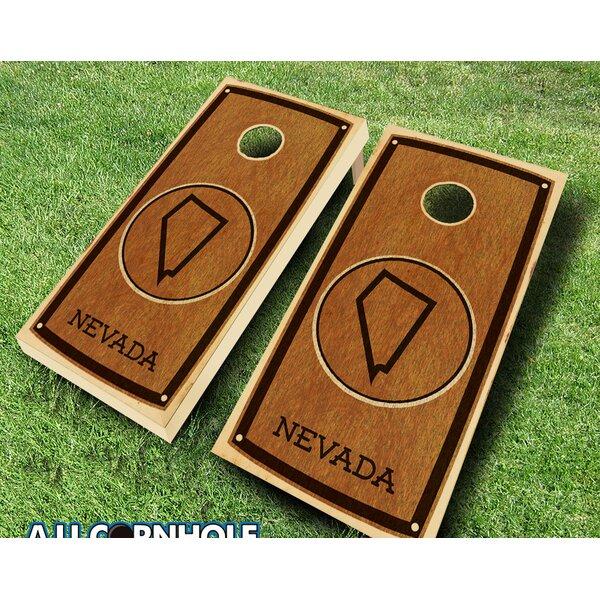 Nevada Stained 10 Piece Cornhole Set by AJJ Cornhole