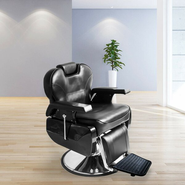 Genuine Leather Reclining Adjustable Width Massage Chair By Symple Stuff