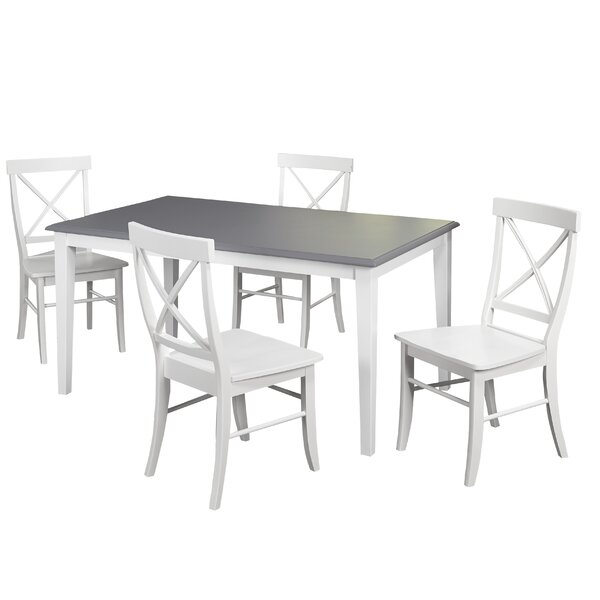 Lehigh Acres 5 Piece Dining Set by Beachcrest Home
