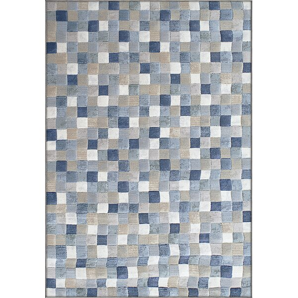Goyette Blue Area Rug by Ebern Designs