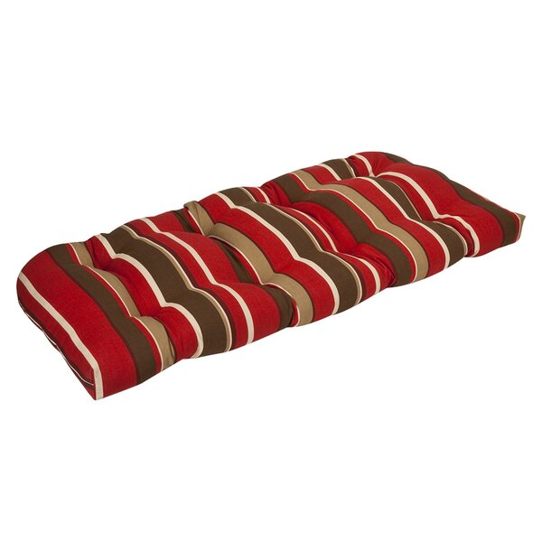 Indoor/Outdoor Loveseat Cushion by Pillow Perfect