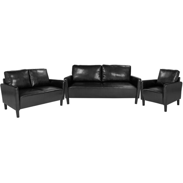 Best #1 Ashbaugh Upholstered 3 Piece Living Room Set By Ebern Designs Spacial Price