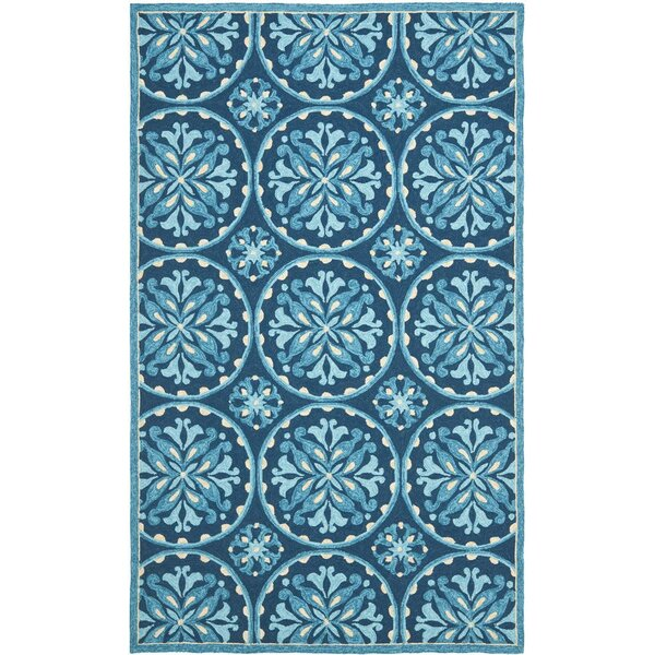 Carvalho Blue Indoor/Outdoor Area Rug by Charlton Home