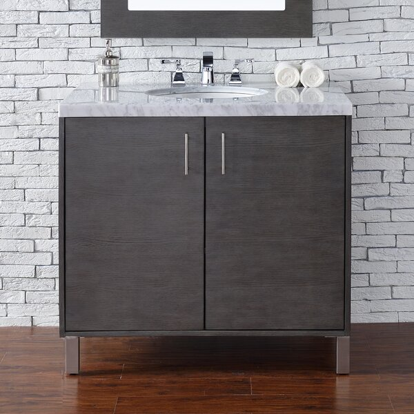 Cordie 36 Single Silver Oak Bathroom Vanity Set by Orren Ellis