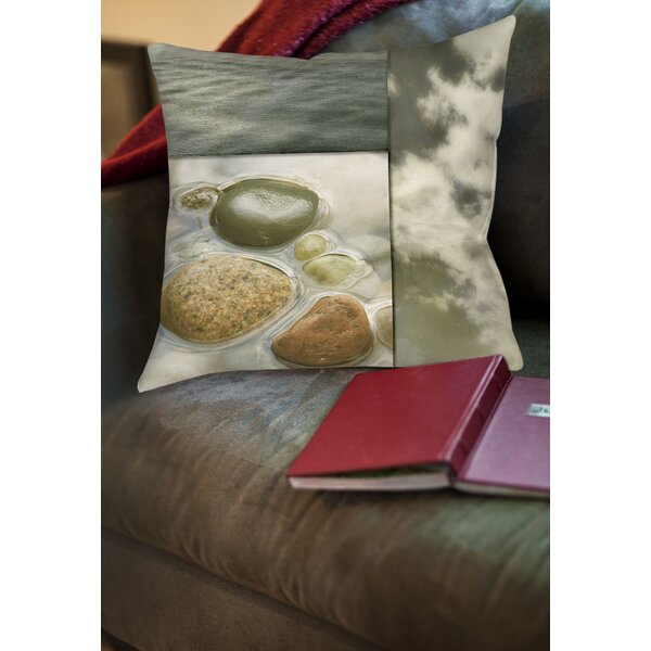 Natural Elements 3 Printed Throw Pillow by Manual Woodworkers & Weavers