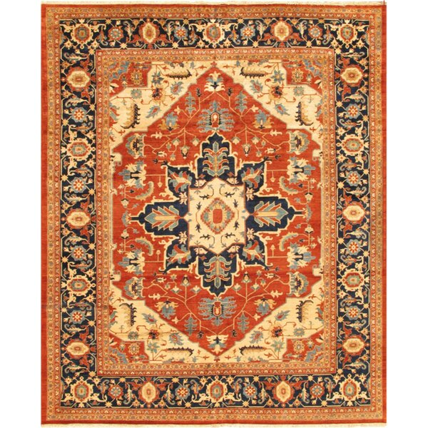 Serapi Hand-Knotted Wool Rust/Camel Area Rug