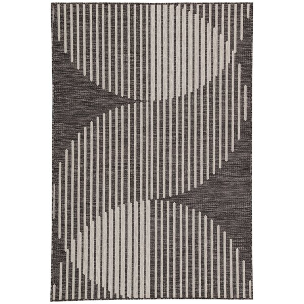 Nikki Chu Dark Gray Indoor/Outdoor Area Rug by Nikki Chu