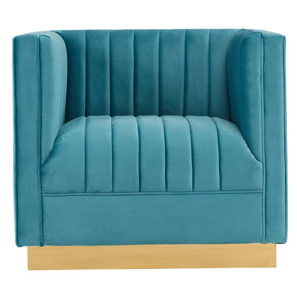 Peay Velvet Armchair by Mercer41
