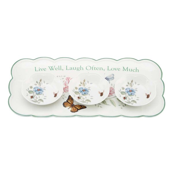 Butterfly Meadow Platter by Lenox