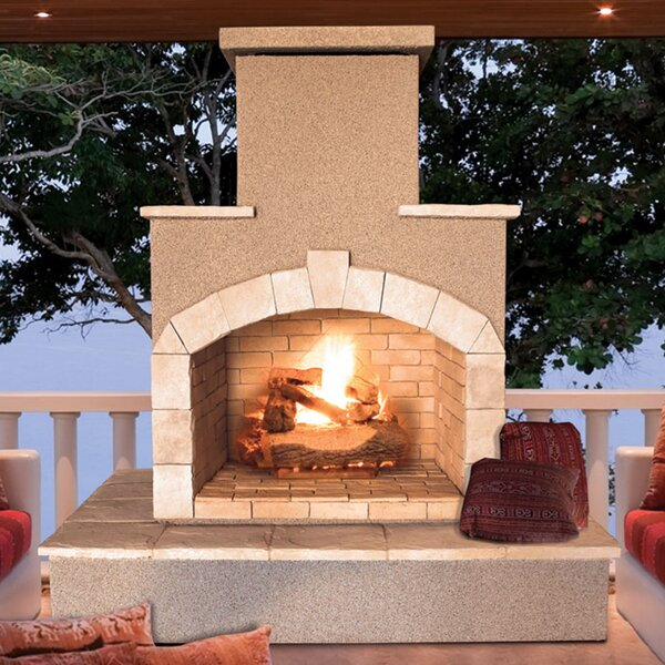Steel Gas Outdoor Fireplace by Cal Flame