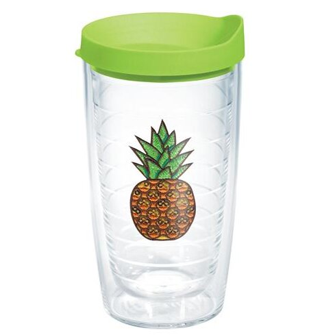 Eat Drink Be Merry Pineapple Expression Plastic Travel Tumbler by Tervis Tumbler