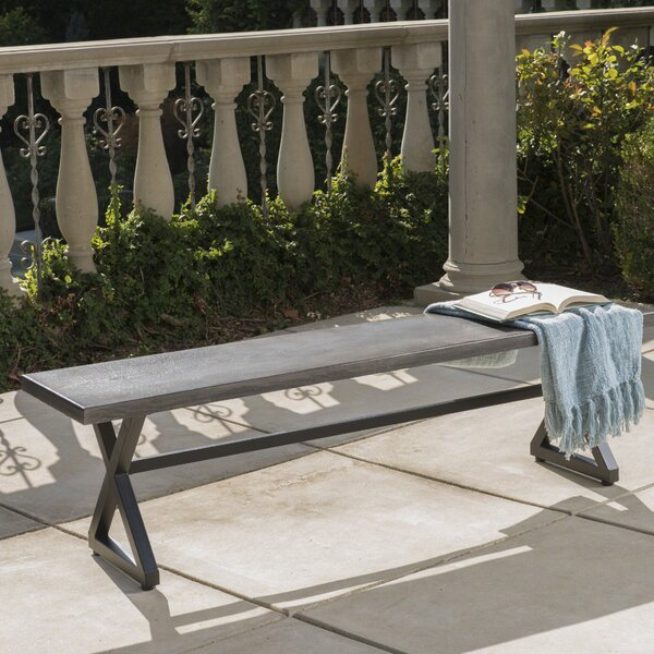 Bohra Outdoor Aluminum Picnic Bench by Union Rustic Union Rustic