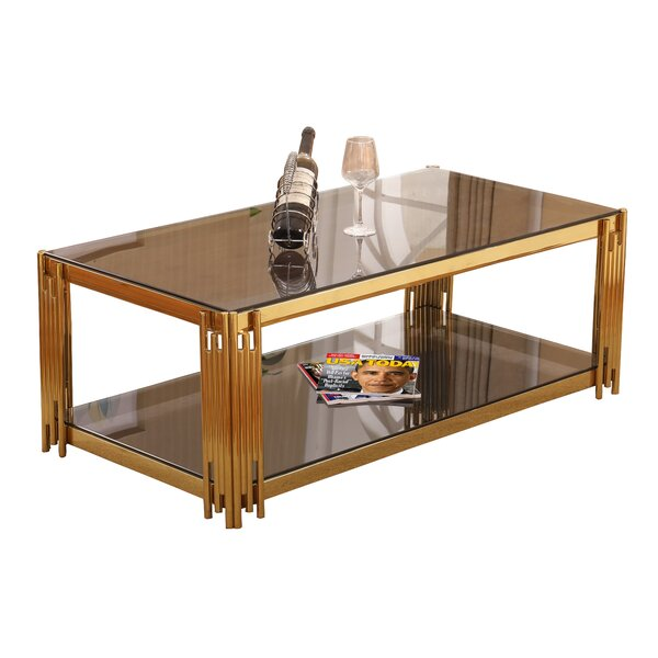Harden Floor Shelf Coffee Table With Storage By Mercer41