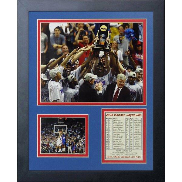 2008 Kansas Jayhawks - Podium Framed Photographic Print by Legends Never Die