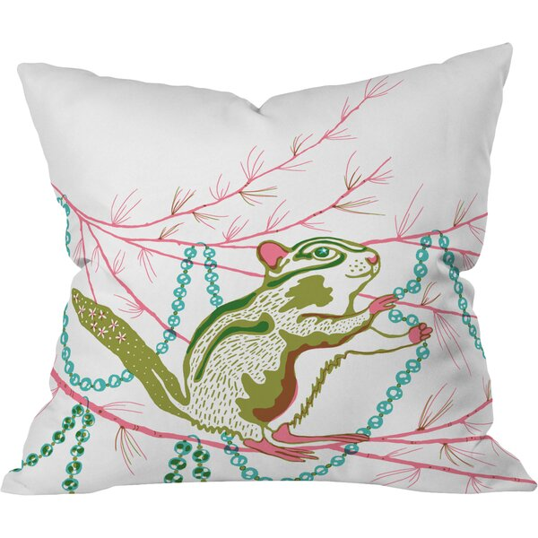 Betsy Olmsted Holiday Chipmunk Throw Pillow by Deny Designs