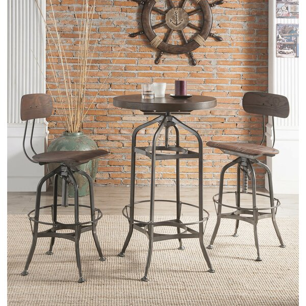 Munro Swivel Adjustable Height Bar Stool by 17 Stories 17 Stories