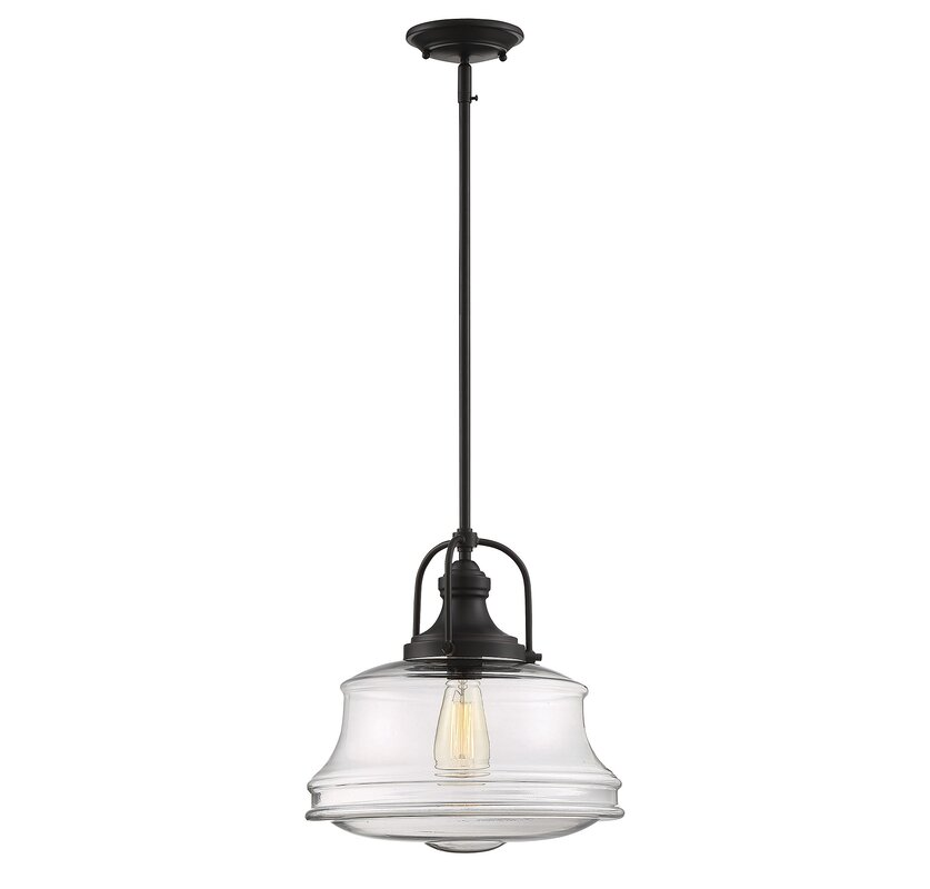 Nadine 1-Light Schoolhouse Pendant  sc 1 st  Wayfair : school house pendant light - azcodes.com