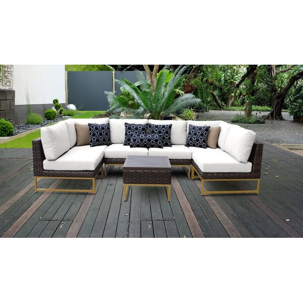 Barcelona 7 Piece Sectional Seating Group with Cushions by TK Classics