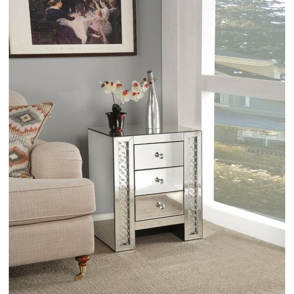 Cochran 3 Drawer Nightstand by Rosdorf Park