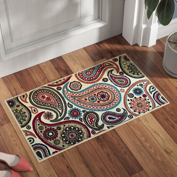 Beauchamp Square Beige Paisley Doormat by Andover Mills