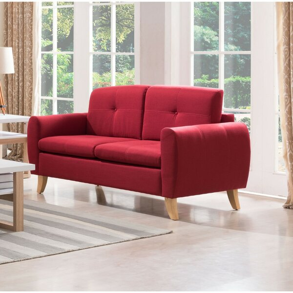Mccray Center Button Tufted Loveseat by Ebern Designs