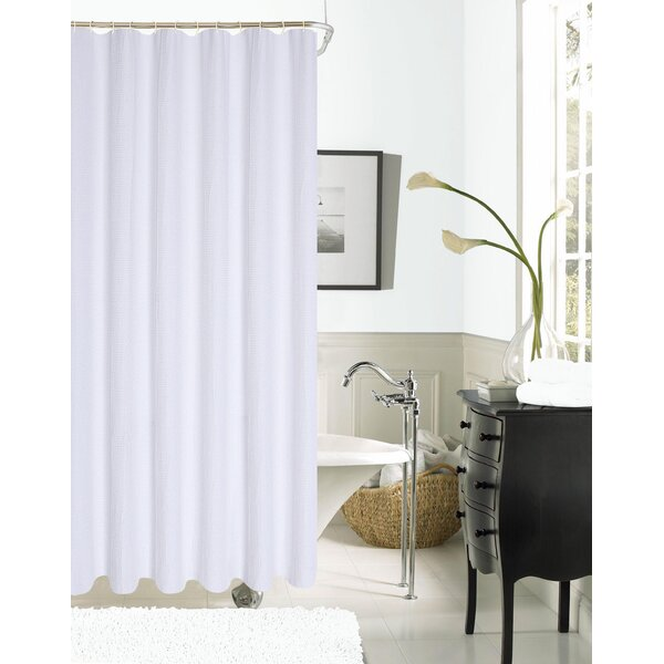 Timberview Waffle Shower Curtain by Breakwater Bay