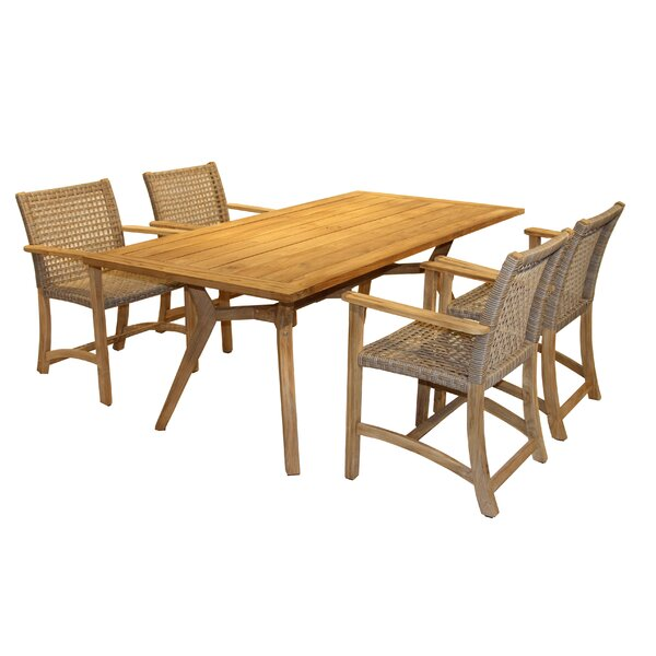 Tibbitts Teak 5 Piece Dining Set by Mistana