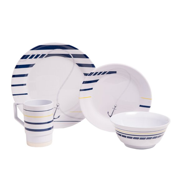 Ariya Melamine Gift 24 Piece Dinnerware Set, Service for 6 by Longshore Tides