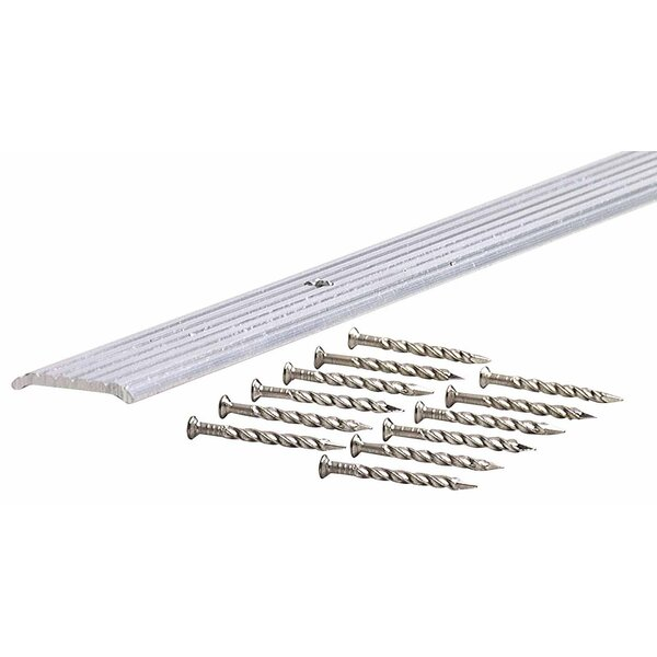 0.13 x 0.75 x 36 Fluted Seam Binder in Silver by M-d Products