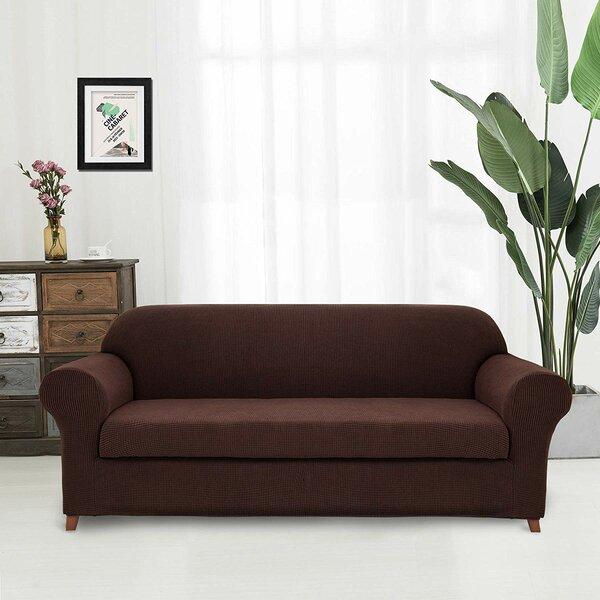 Super Fit Box Cushion Loveseat Slipcover By Latitude Run